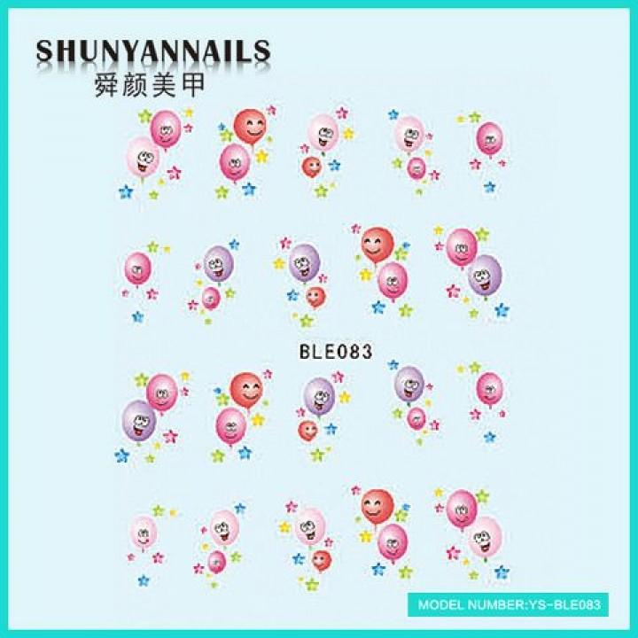 Слайдер дизайн для украшения ногтей Воздушные шарики
