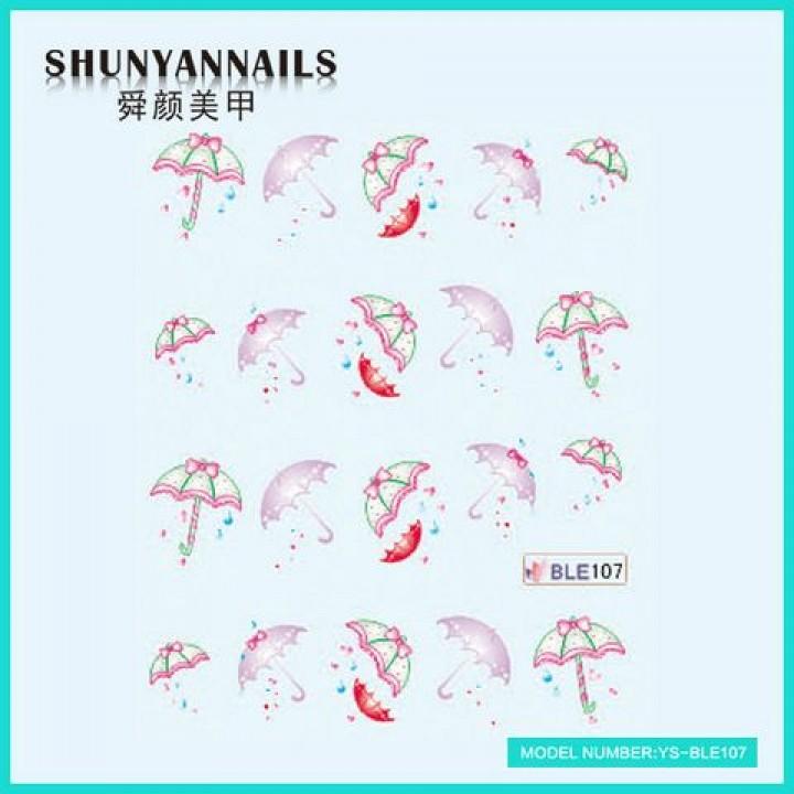 Слайдер дизайн для украшения ногтей Зонтики