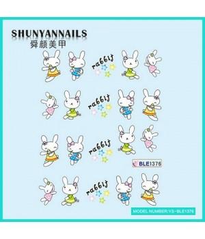 Слайдер дизайн для ногтей Животные, зайчата