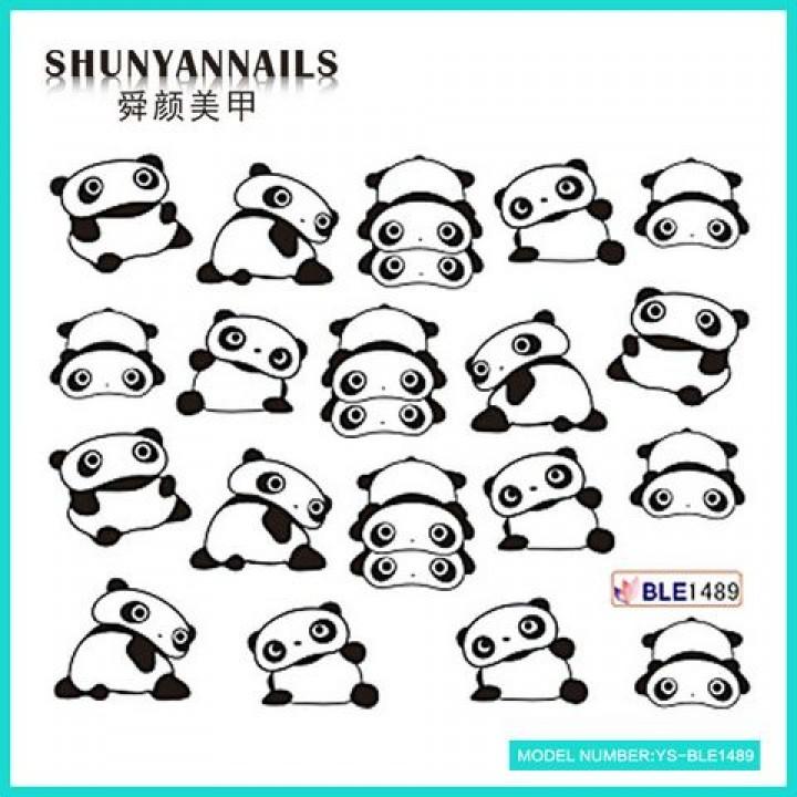 Слайдер дизайн для украшения ногтей Животные, панда