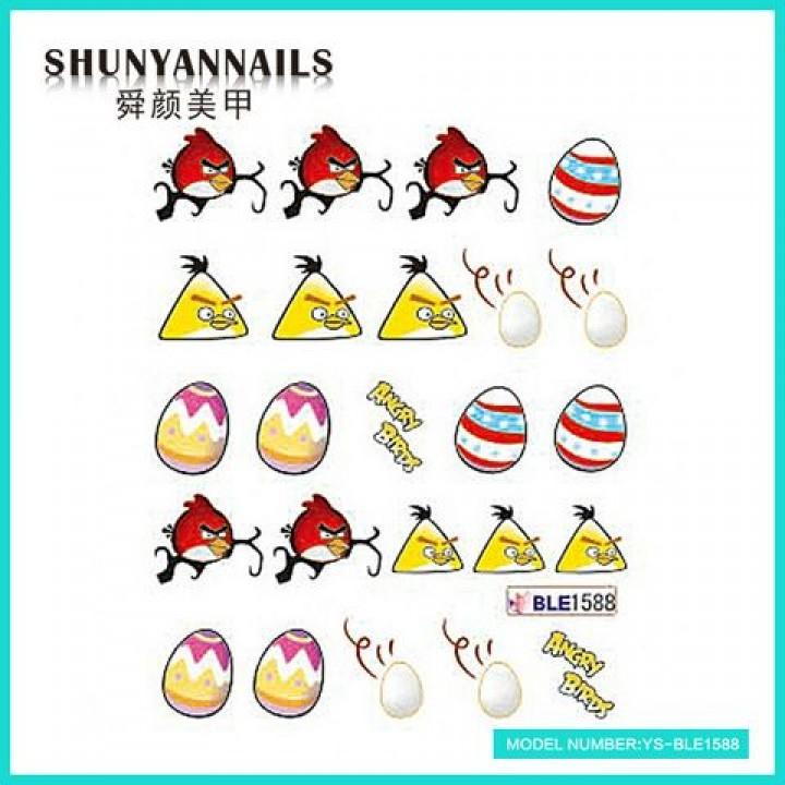 Слайдер дизайн для украшения ногтей Птицы, Angry Birds