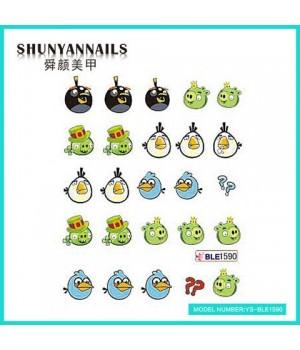 Слайдер дизайн для ногтей Angry Birds