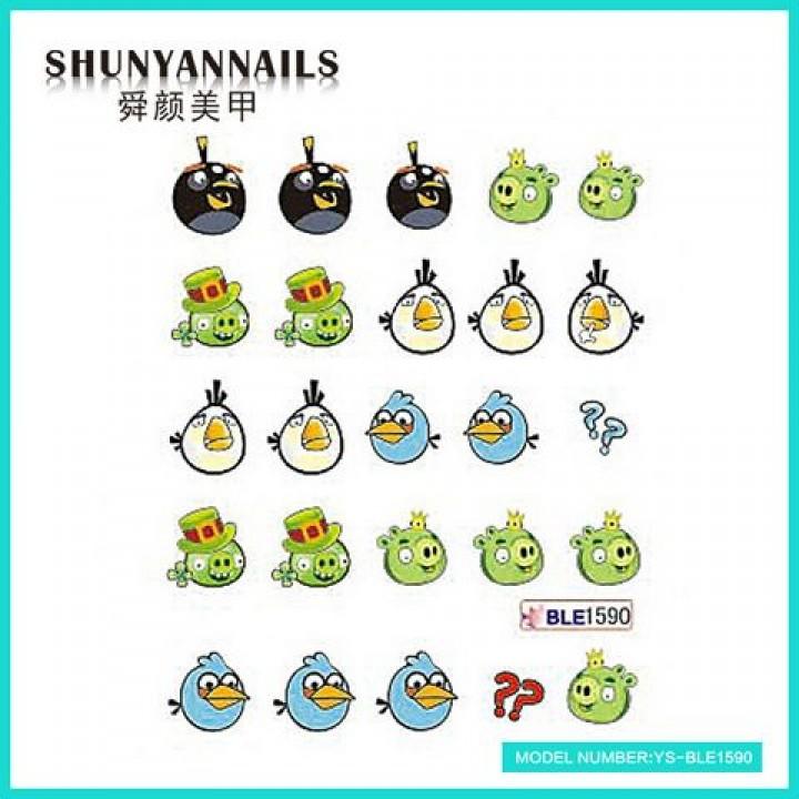Слайдер дизайн для украшения ногтей Angry Birds