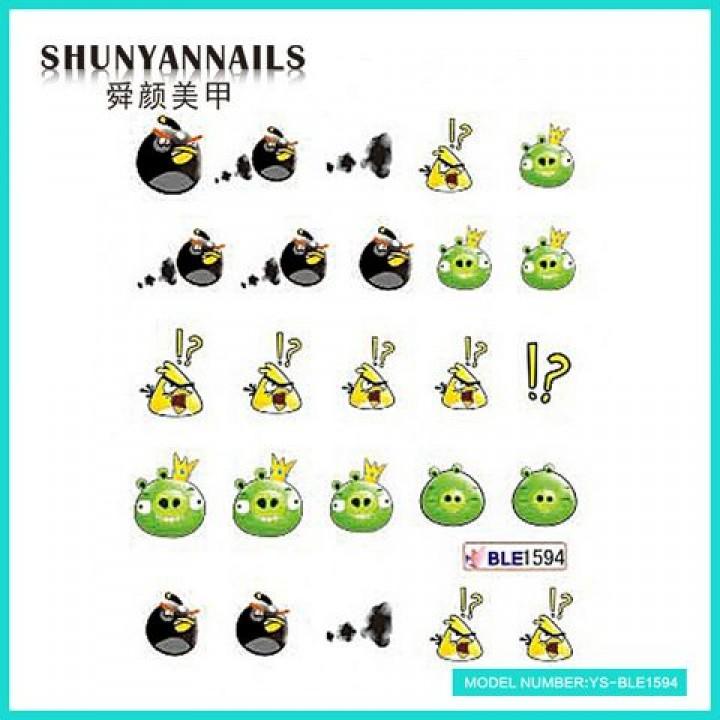 Слайдер дизайн для украшения ногтей Мультяшки, Angry Birds