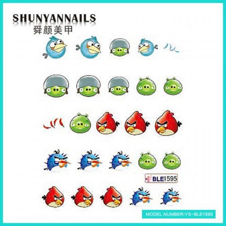 Слайдер дизайн для украшения ногтей Птички, Angry Birds