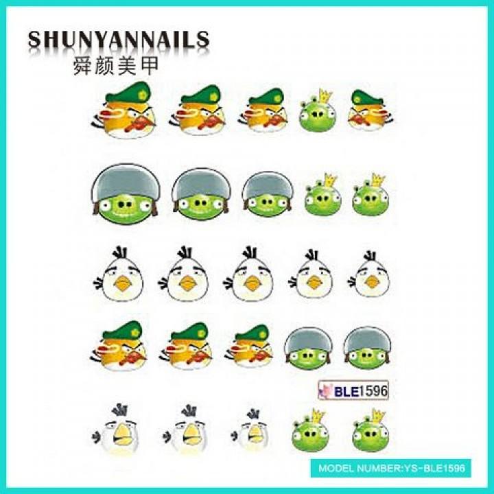 Слайдер дизайн для украшения ногтей Мультики, Angry Birds