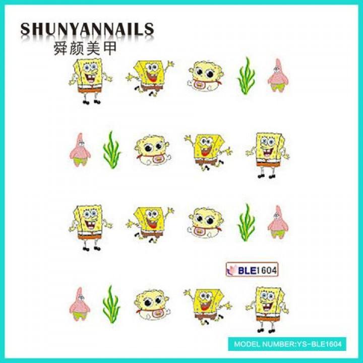 Слайдер дизайн для украшения ногтей Мультики, Губка Боб, Sponge Bob