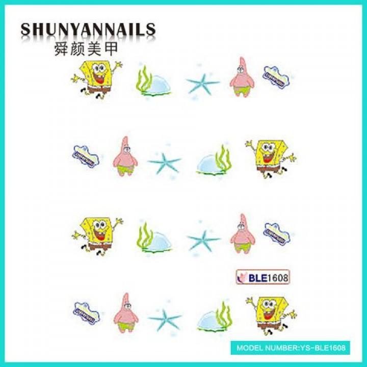 Слайдер дизайн для украшения ногтей Мультяшки, Губка Боб, Sponge Bob, звезда
