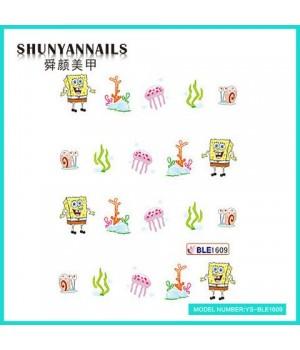 Слайдер дизайн для ногтей Губка Боб, Sponge Bob, мультяшки