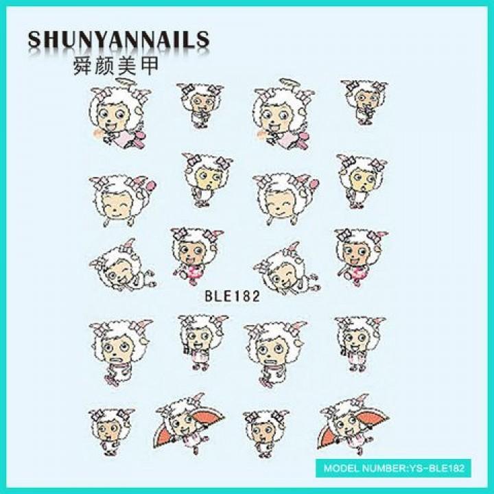 Слайдер дизайн для украшения ногтей Мультяшки, овечка