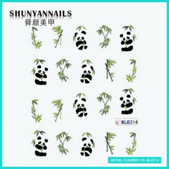 Слайдер дизайн для украшения ногтей Панда, животные