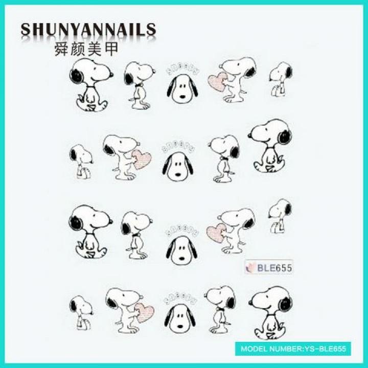 Слайдер дизайн для украшения ногтей Животные, собачка, пес