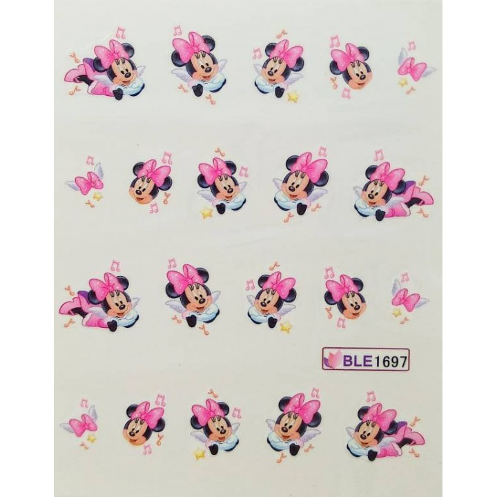 Слайдер дизайн для украшения ногтей Мультяшки, Минни Маус