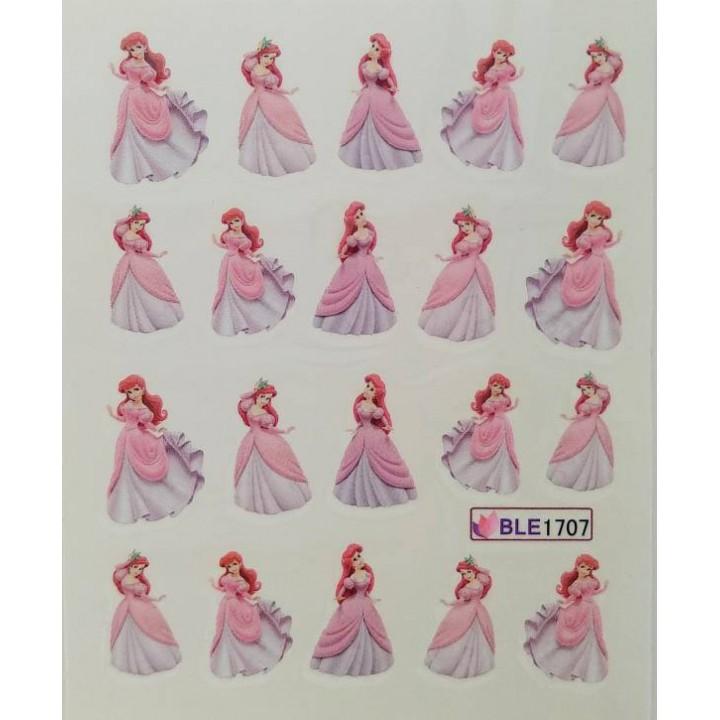 Слайдер дизайн для украшения ногтей Мультики, принцесса, девочка