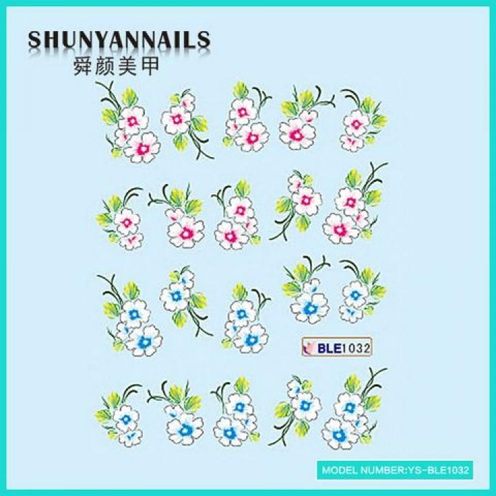 Слайдер дизайн для украшения ногтей Цветы сакура