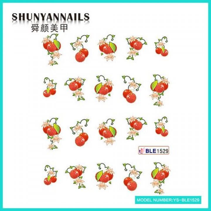Слайдер дизайн для украшения ногтей Фрукты, ягоды