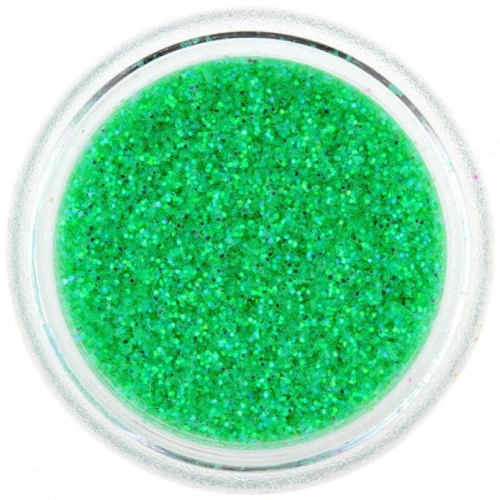 Блёстки для ногтей Ярко Зелёные Голографические №82