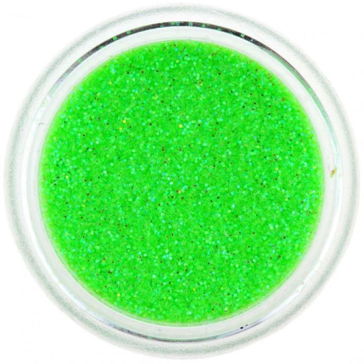 Блёстки для ногтей Кислотно Зелёные Голографика №91