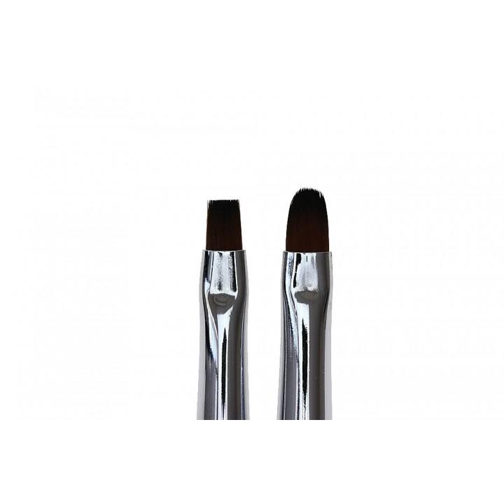 Кисточка для моделирования и дизайна ногтей Flat #4 / Oval #6