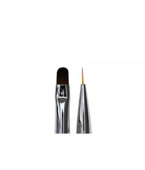 Кисть для дизайна и росписи ногтей Oval #6 / Liner #7
