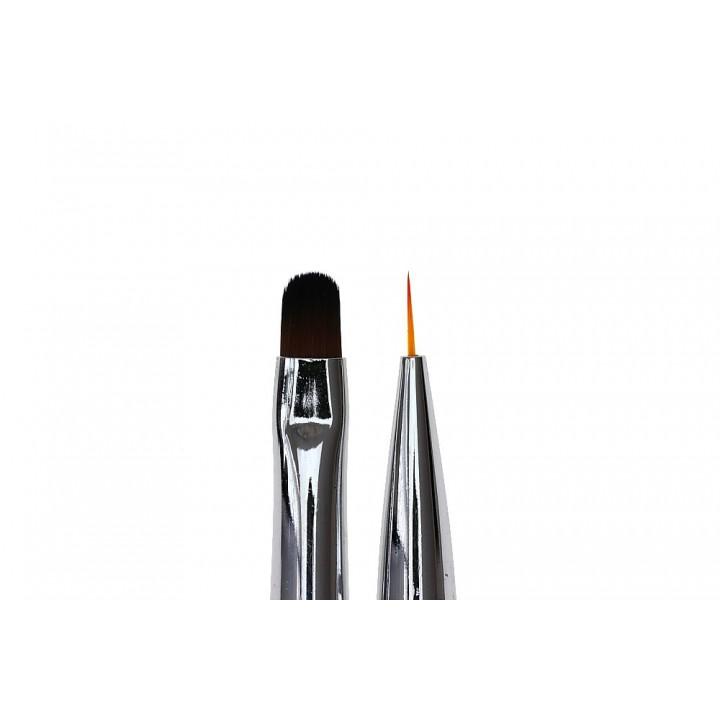 Кисточка для дизайна ногтей Oval #6 / Liner #7