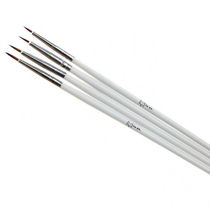 Набор кисточек для дизайна и рисования ногтей 4 шт