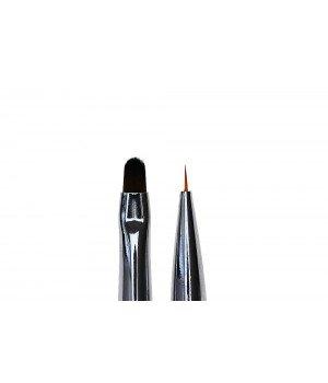 Кисть для моделирования и дизайна ногтей Oval #4 / Liner #5