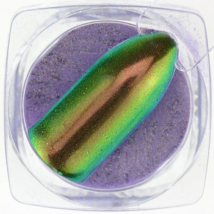 Зеркальная Пудра для дизайна ногтей Unicorn Rainbow Радужный Единорог №03