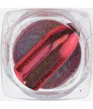 Зеркальная пудра Chrome №19 красная голографическая