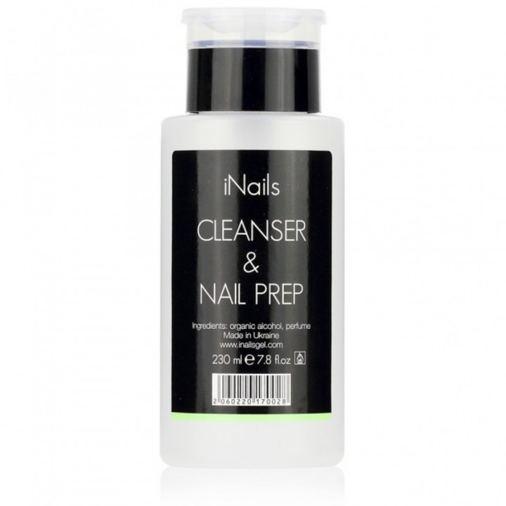 Средство для дегидрации, обезжиривания и снятия липкости Nail Prep&Cleanser iNails 230 мл.