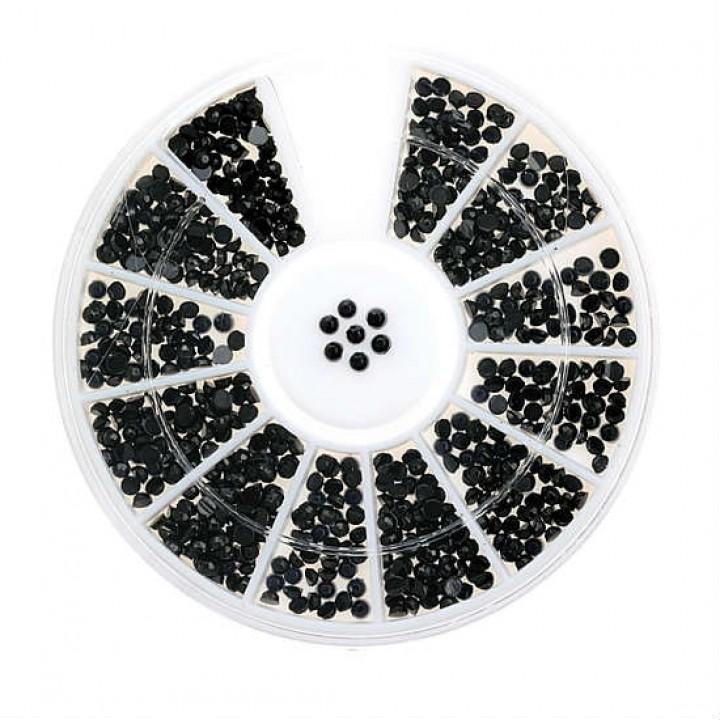 Стразы для дизайна ногтей Черные